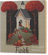 Faith Country Church Wood Print