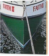 Faith II Fishing Boat Wood Print