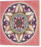 Faith Mandala Wood Print