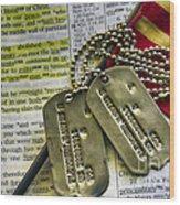 Faith Service Patriotism Wood Print