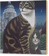 Faith, The St. Paul's Cat Wood Print