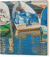 Faithful Working Boats Wood Print