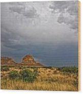 Fajada Butte Storm Wood Print