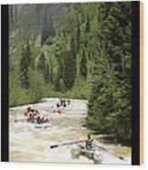White Water Rafting On The Animas Wood Print
