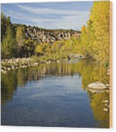 Fall Along River Sierra Ancha Wood Print