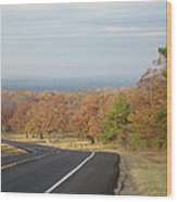 Fall Along The Country Highway 2 Wood Print