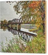Fall Along The Miramichi Wood Print