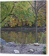 Fall Along The Scioto River Wood Print