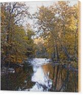Fall Along The Wissahickon Wood Print