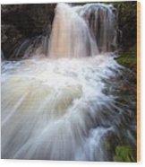 Fall And Splash Wood Print