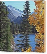 Fall At Bear Lake Wood Print by Tranquil Light  Photography