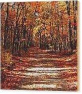 Fall At Cheesequake Wood Print