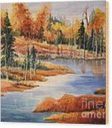 Fall At Elk Island  Wood Print