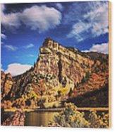 Fall At Hanging Lake Colorado Wood Print