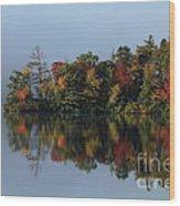 Fall At Heart Pond Wood Print