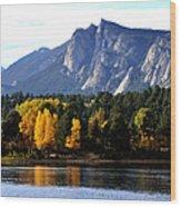 Fall At Lake Estes Wood Print
