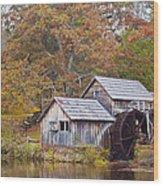 Fall At Mabry Mill Wood Print