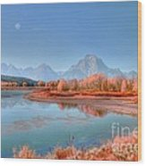 Fall At Oxbow Bend Wood Print