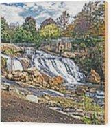 Fall At Reedy River Wood Print