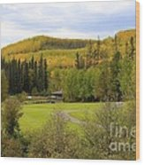 Fall At The Course Wood Print