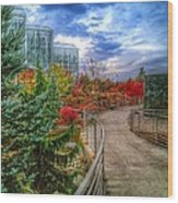Fall At The Gardens Wood Print