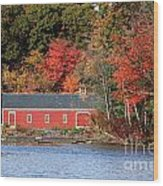 Fall At The Mill Wood Print