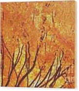 Fall At The Shore Wood Print