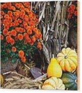 Fall Bounty Wood Print