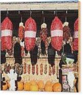 Fall Chilli Market Wood Print