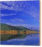 Fall Color Oxbow Bend Grand Tetons National Park Wyoming Wood Print