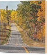 Fall Color Tour Mn Highway 1 2878 Wood Print
