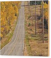 Fall Color Tour Mn Highway 1 2925 Wood Print