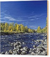 Fall Colors Along The Naches River Wood Print