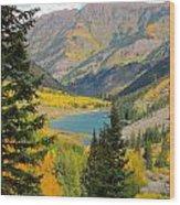 Fall Colors At Maroon Lake Wood Print
