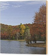 Fall Colors At Sherando Lake Wood Print