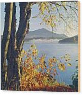 Fall Colors Frame Whiteface Mountain Wood Print