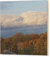 Fall Colors In New England Wood Print