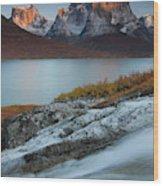 Fall Colors In Tasermiut Fiord Wood Print