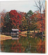 Fall Colors Wood Print by Jinx Farmer