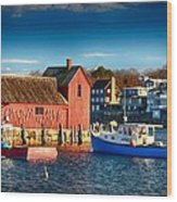 Fall Comes To Rockport Wood Print