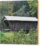 Fall Covered Bridge Wood Print