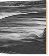 Fall Creek Flow Wood Print