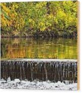Fall Falls Wood Print by Baywest Imaging