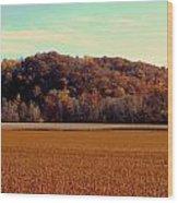 Fall Fields Wood Print