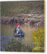 Fall Fishing Wood Print