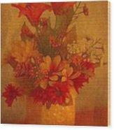 Fall Flower Bouquet Wood Print