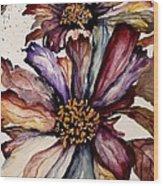 Fall Flower Colors  Wood Print