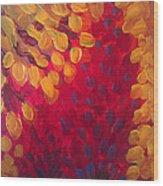 Fall Flurry Wood Print