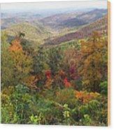Fall Folage 3 Along The Blueridge Wood Print