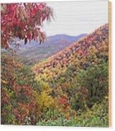 Fall Folage Along The Blueridge Wood Print